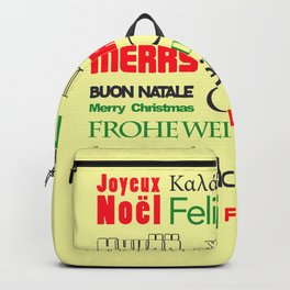 merry christmas in different languages I Backpack