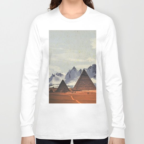 WHEN ANTARCTIC MEETS PYRAMIDS Long Sleeve T-shirt