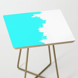 Shiny Turquoise balance Side Table