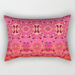 Pink Haze Bandana Ombre' Stripe Rectangular Pillow