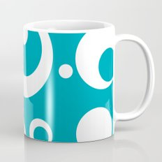 Circles Dots Bubbles :: Turquoise Mug