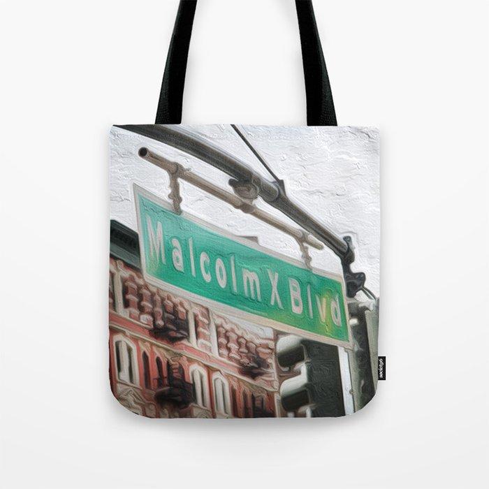 Malcom X Blvd Tote Bag