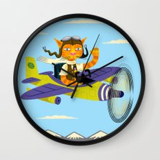 Tibbles Learns To Fly Wall Clock