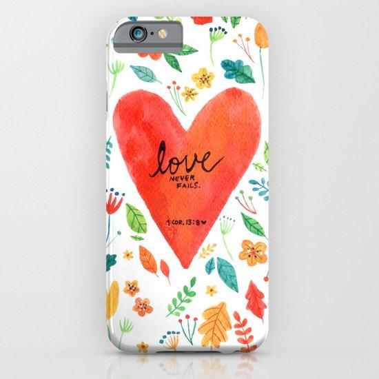 Love never fails iPhone & iPod Case