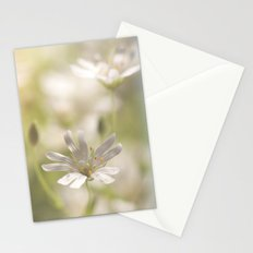 White tender Spring Flowers and blossoms on #Society6 Stationery Cards