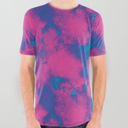 Cotton Candy Acid Trip All Over Graphic Tee