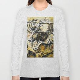 Panel of Rhinos // Chauvet Cave Long Sleeve T-shirt