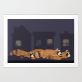 Raccoon Series: Out on the Town Art Print