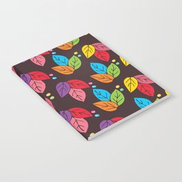 colorful pattern leaves Notebook