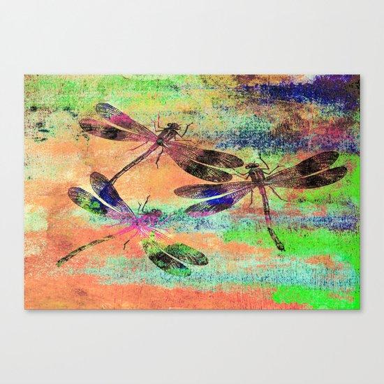 Mauritius Vintage Dragonflies Colours C Canvas Print