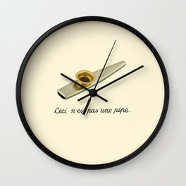 This is not a pipe Wall Clock