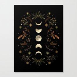 Moonlight Garden - Winter Brown Canvas Print