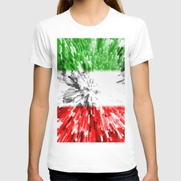 Extruded Flag of Italy T-shirt