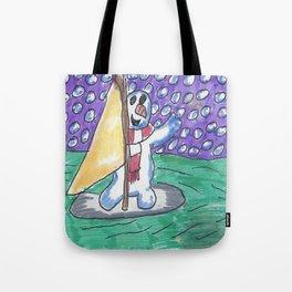 Christmas #9 Snow Windsurfing Tote Bag