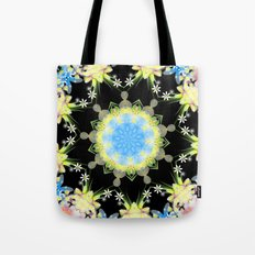 Kaleidoscope 'Twisted Flower' Tote Bag
