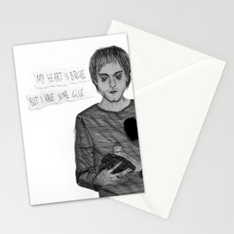 My heart is broke, but I have some glue Stationery Cards