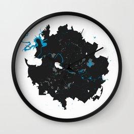 Austin Texas Minimalist Map (Light) Wall Clock