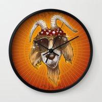 rockabilly Wall Clocks featuring Rockabilly by Chip David