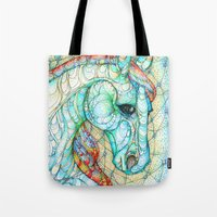 horse Tote Bags featuring Horse by Kate Fitzpatrick