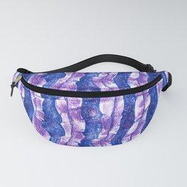 Seaweed Stripe, Blue & Violet Pattern Fanny Pack