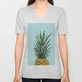 blue pineapple Unisex V-Neck