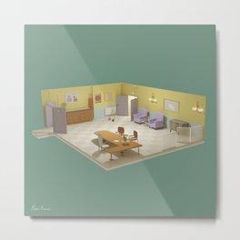 Senior Residence Lowpoly Metal Print