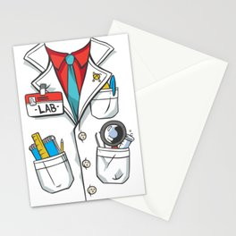 lab coat costume  Stationery Cards