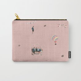 BTS Young Forever Pattern - Pink Carry-All Pouch