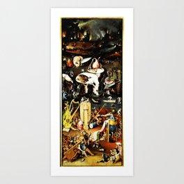 Bosch Garden Of Earthly Delights Panel 3 - Hell Art Print