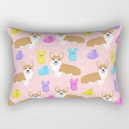 Corgi peeps easter marshmallow spring traditions dog breed welsh corgi Rectangular Pillow