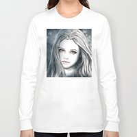 medusa Long Sleeve T-shirts featuring Medusa by Masza illustration