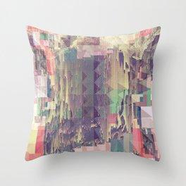 Mountain//Glitch Throw Pillow