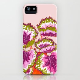 pink and green house plant iPhone Case
