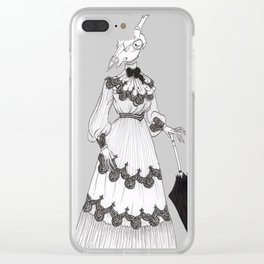 skull head Clear iPhone Case