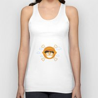 luffy Tank Tops featuring Captain Monkey D. Luffy by ARI RIZKI