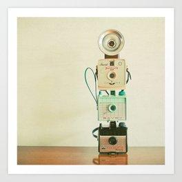 Tower of Cameras Art Print