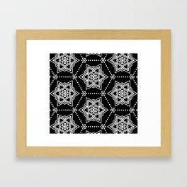 White Mandalas Framed Art Print