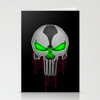 spawn Stationery Cards featuring Punisher Spawn Mash-Up by Joshua Epling
