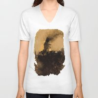 istanbul V-neck T-shirts featuring istanbul  by Atalay Mansuroğlu