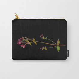 Phlox Carolina Mary Delany Vintage British Floral Flower Paper Collage Black Background Carry-All Pouch