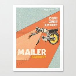 Mailer Barbary Canvas Print
