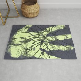 August (Innocence) - Light green & Dark Grey Rug