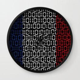 digital Flag (France) Wall Clock