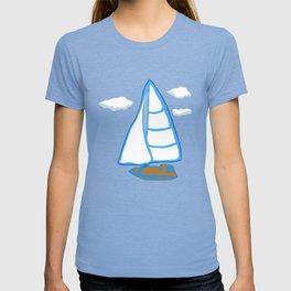 Sailboat Printmaking Art T-shirt