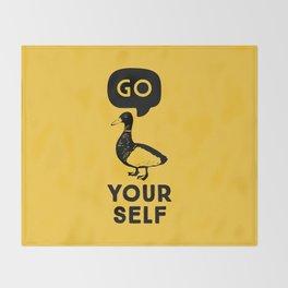 Go Duck Yourself Throw Blanket