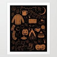 Autumn Nights: Halloween Art Print
