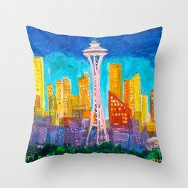 Expression Seattle Throw Pillow