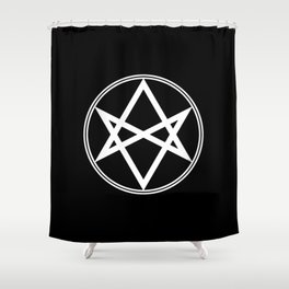Men of Letters Symbol White Shower Curtain