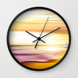 The Great Salt Sea Golden Landscape Wall Clock