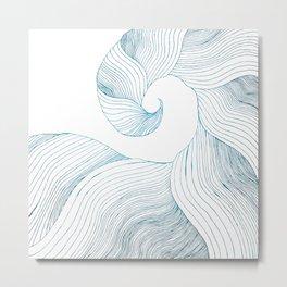 Tidal Wave (Teal Edition) Metal Print